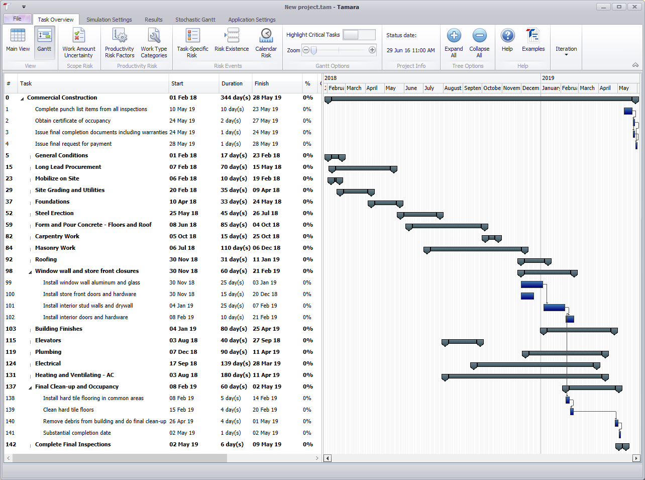 Importing a schedule model from primavera or ms project vose software critical path switched off ccuart Images