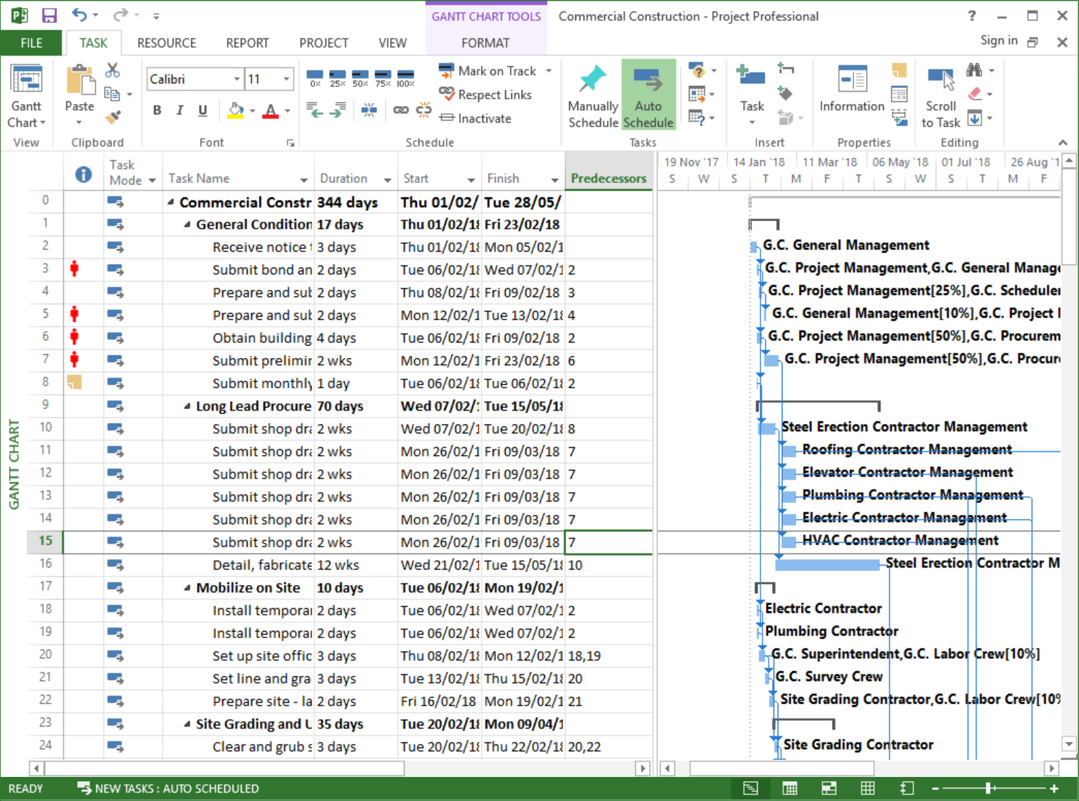 Importing a schedule model from Primavera or MS Project | Vose Software
